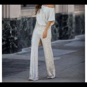 Wintour Highrise Sequin Pant & Billowed Sequin Top